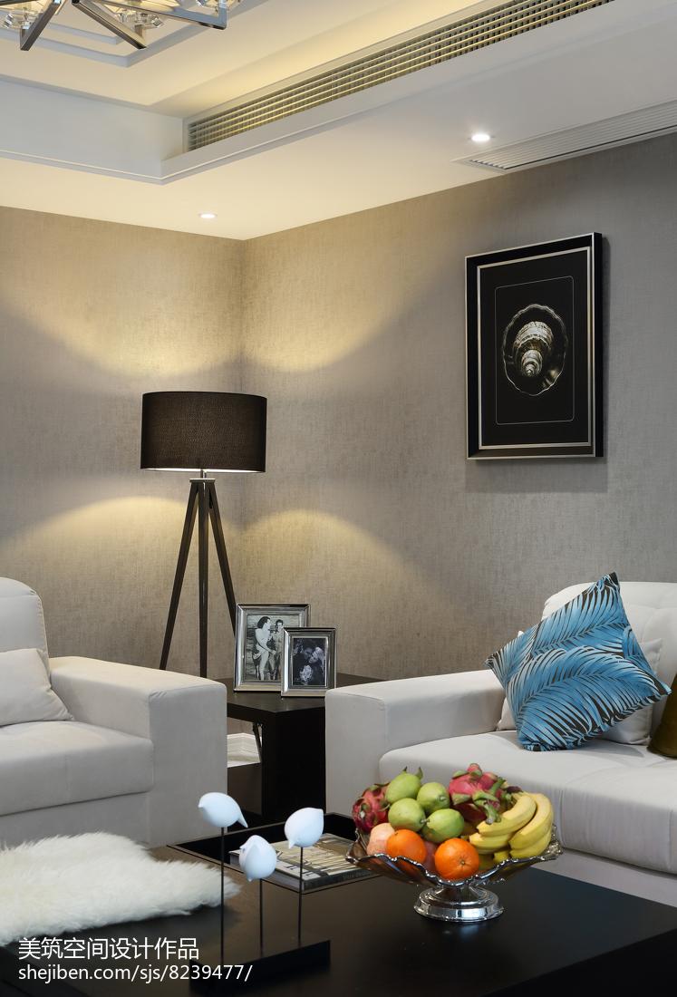 2018面积106平现代三居客厅装修图