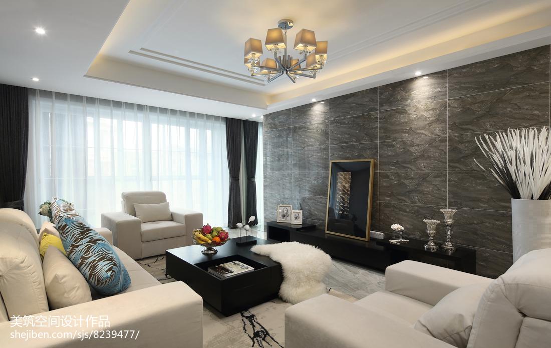 闲适现代三居客厅设计图