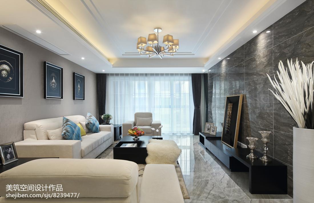 闲适现代三居客厅设计图片