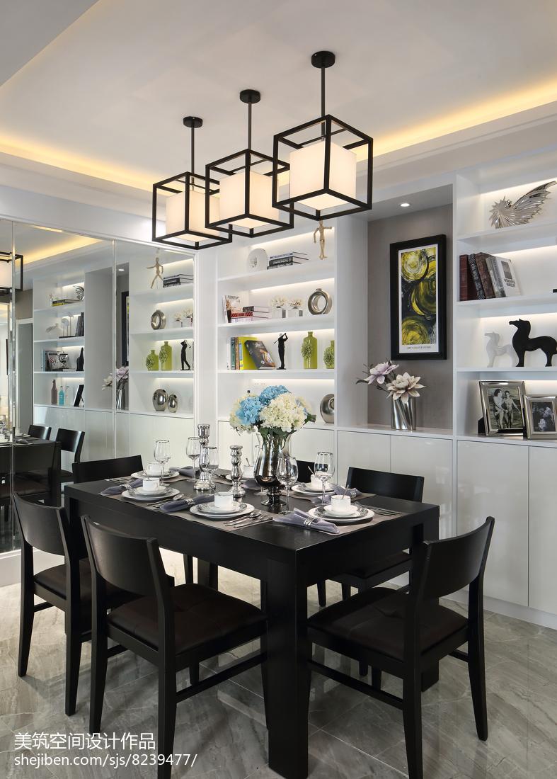 2018面积95平现代三居餐厅装修图片大全