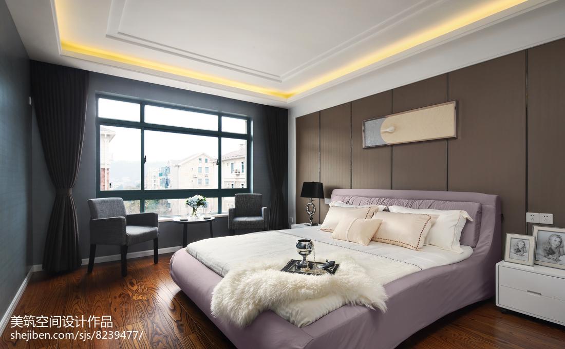 闲适现代三居卧室设计图