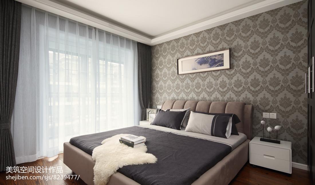 精选103平方三居卧室现代装修设计效果图片欣赏