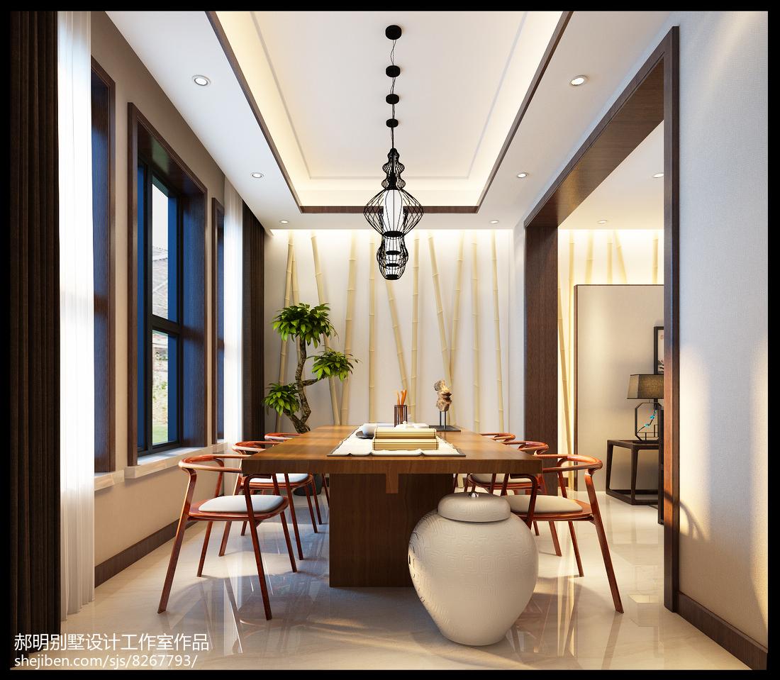 新中式风格设计别墅室内装饰效果图