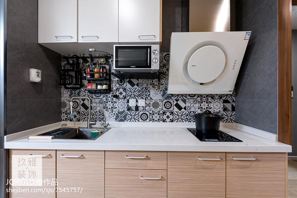 浪漫38平简约小户型厨房实景图