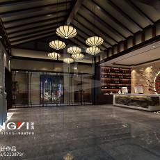 现代一居室大户型客厅装修效果图