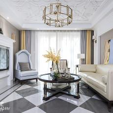 2018109平米三居客厅美式装修图片