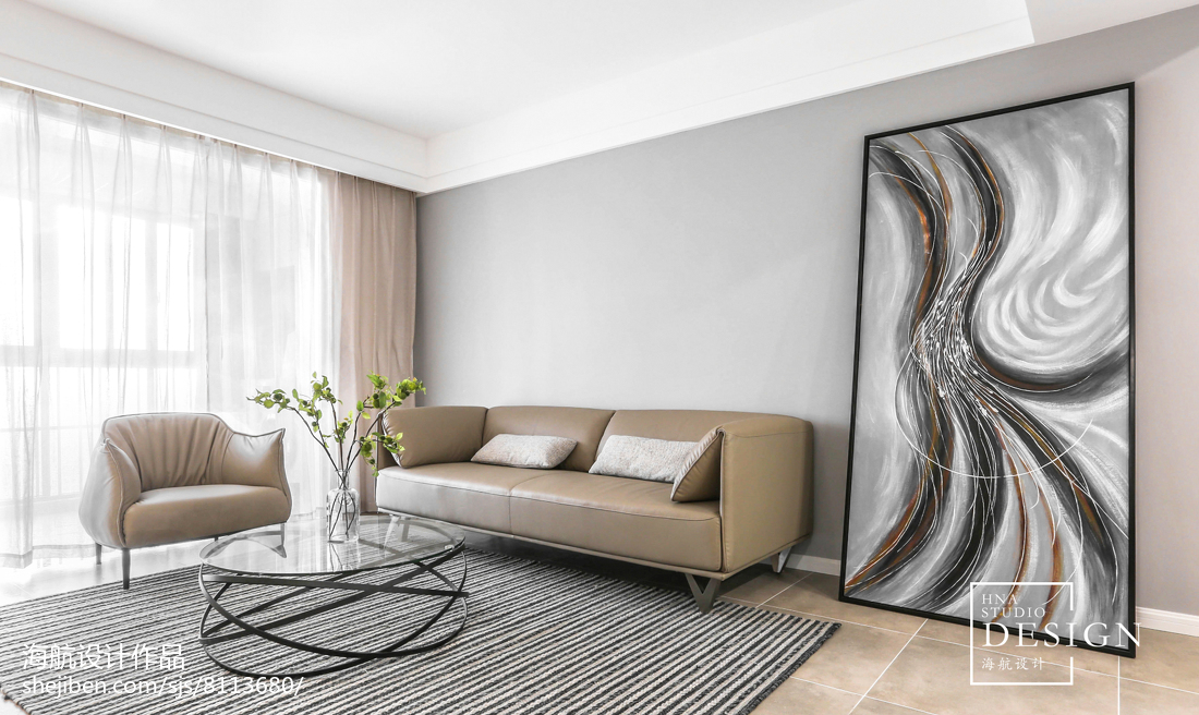 110㎡现代客厅设计图片