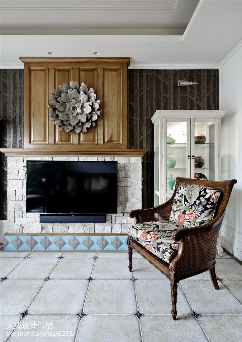 美式风格复式背景墙设计图