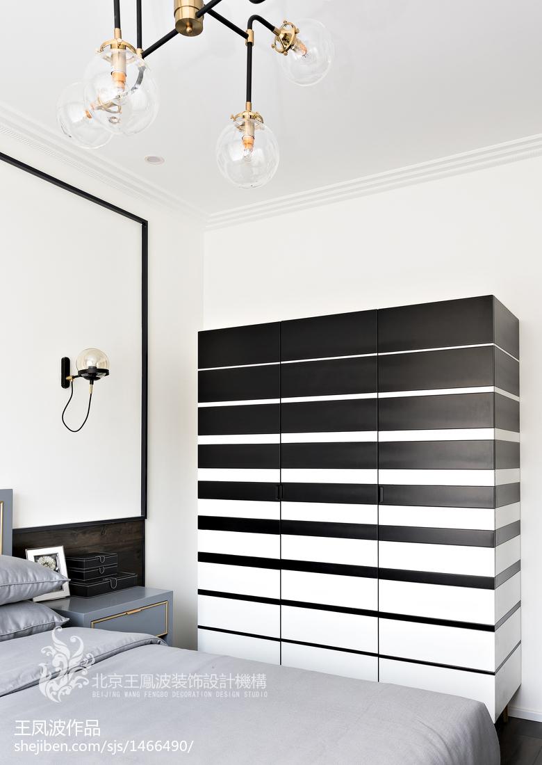 现代风样板间卧室衣柜设计图