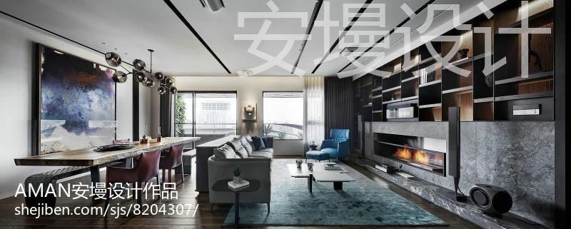 2018最新130平米四居休闲区现代装饰图