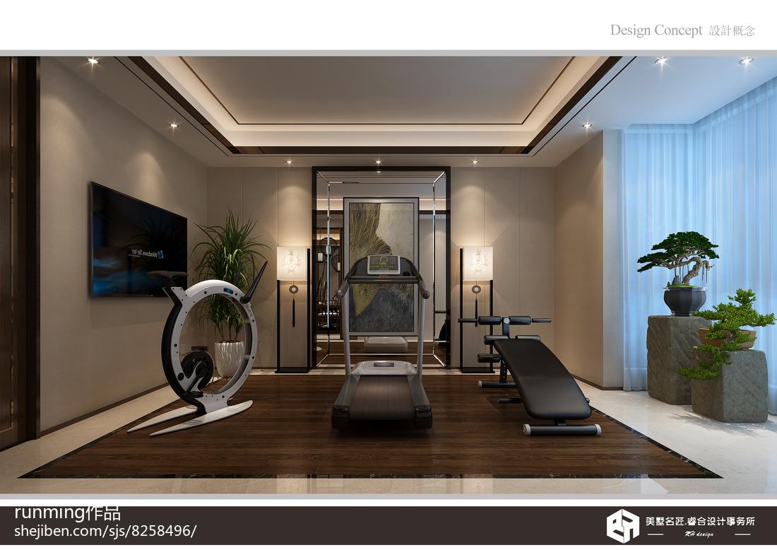 精选134平米中式别墅休闲区设计效果图