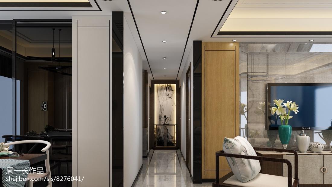 时尚中式青花瓷客厅设计