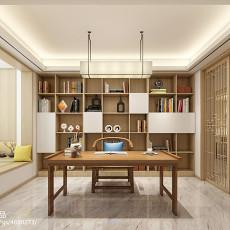热门中式别墅书房实景图