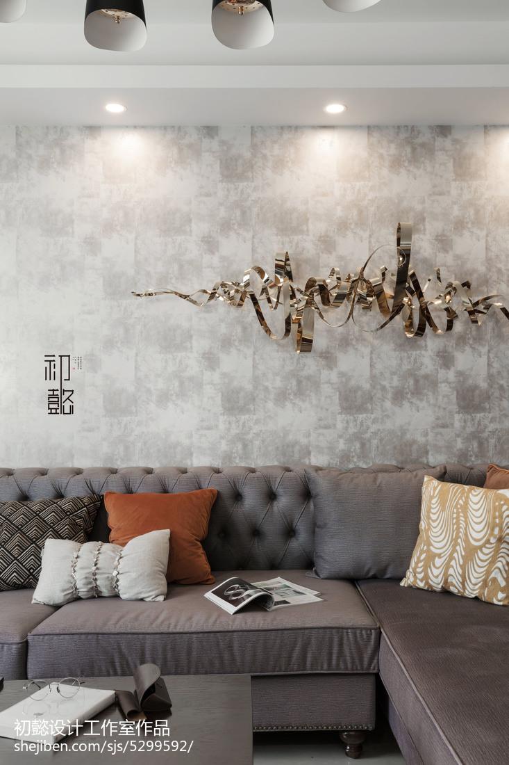 2018121平方四居客厅混搭装修实景图片大全