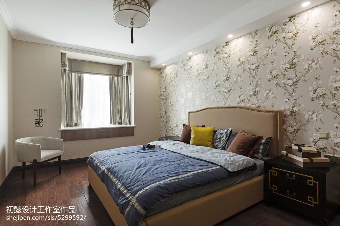 热门127平米四居卧室混搭实景图片大全
