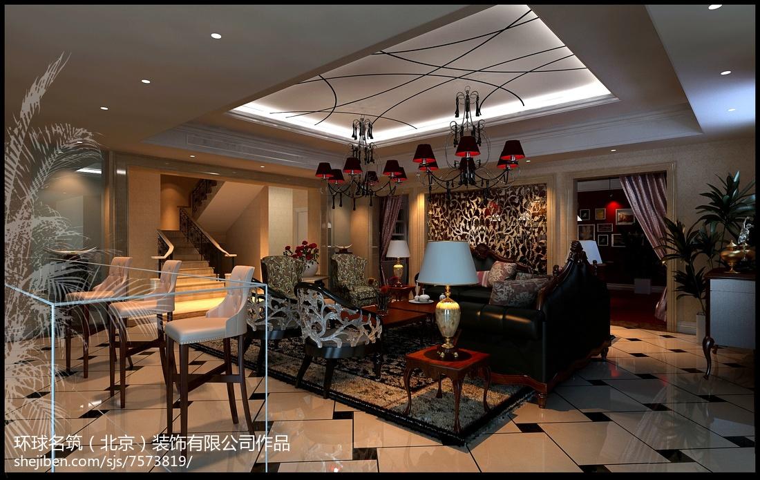 美式别墅住宅室内装修设计效果图片