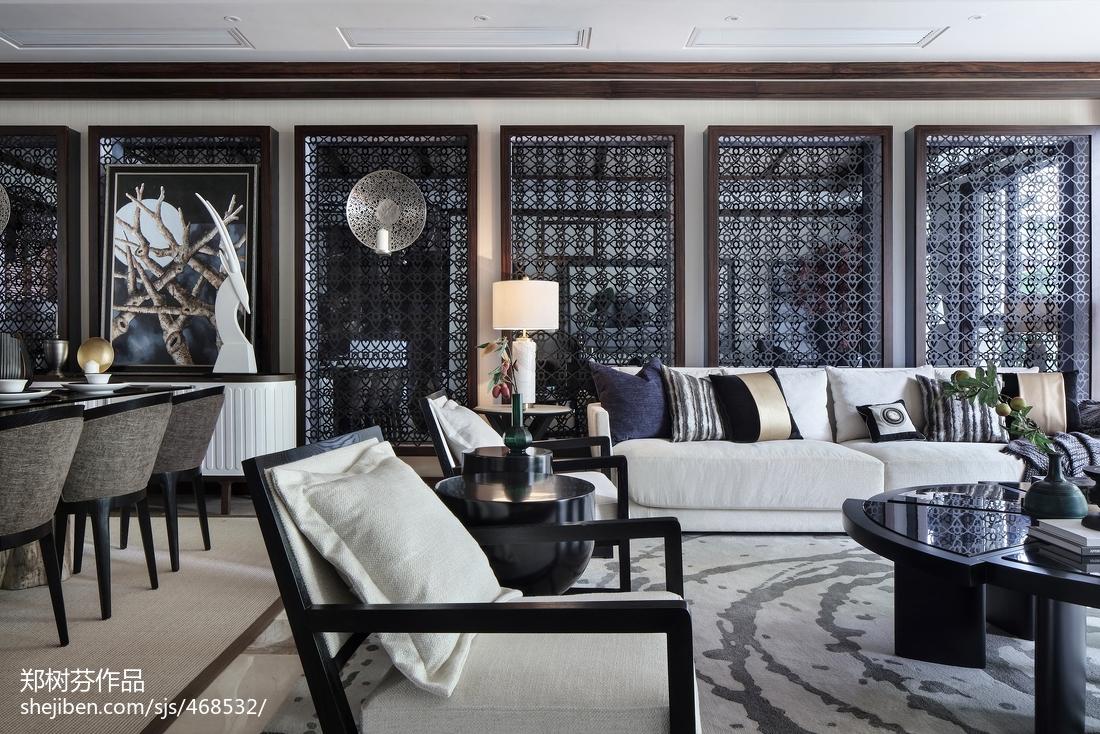 2018精选面积131平别墅客厅东南亚效果图