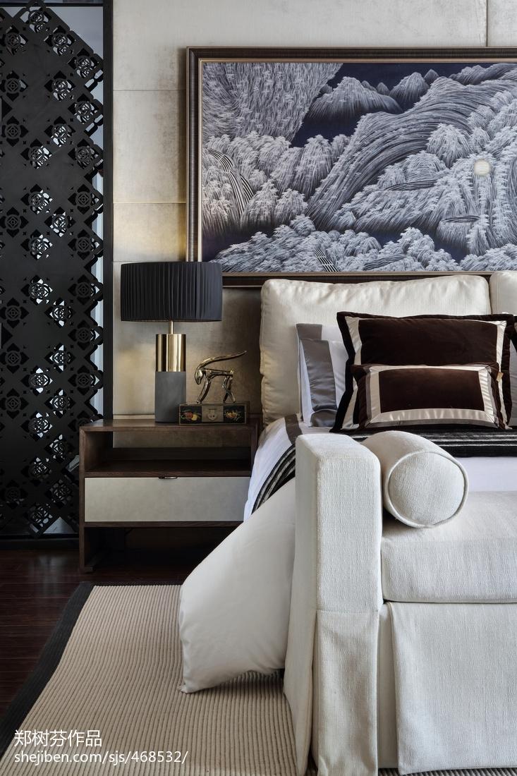 精选面积124平别墅卧室东南亚装修设计效果图片