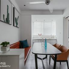 热门面积88平现代二居餐厅装修图