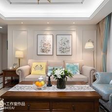2018精选105平方三居客厅美式效果图片