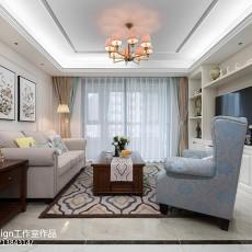 大小96平美式三居客厅装修欣赏图