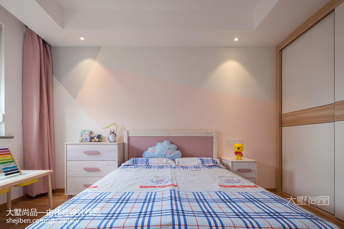 热门102平米三居儿童房北欧装修欣赏图片大全