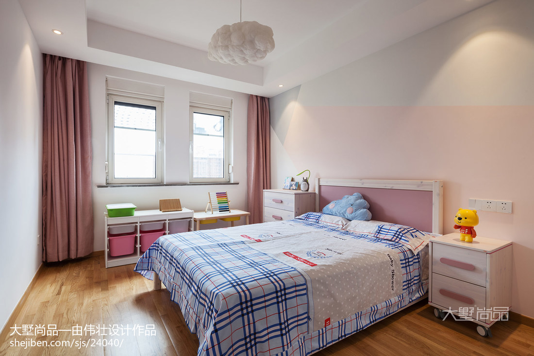 2018精选面积100平北欧三居儿童房装饰图片