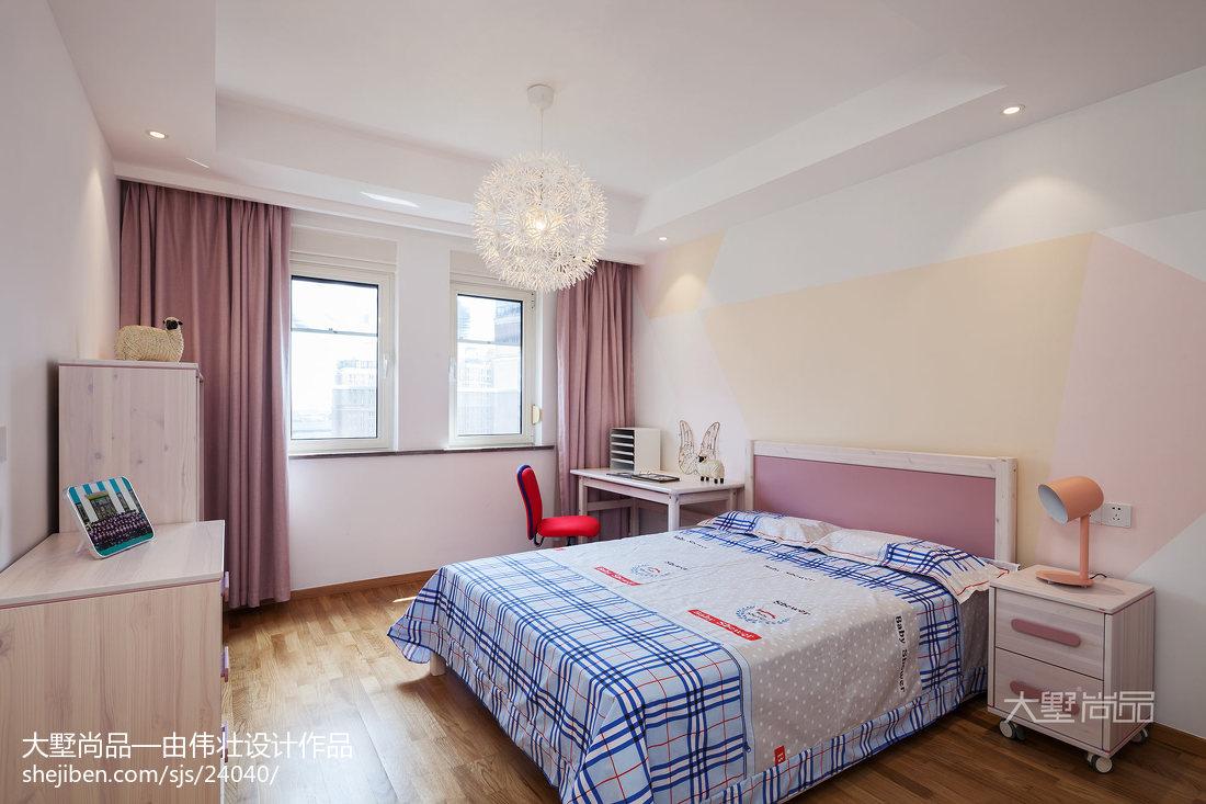 热门面积96平北欧三居儿童房装修效果图片