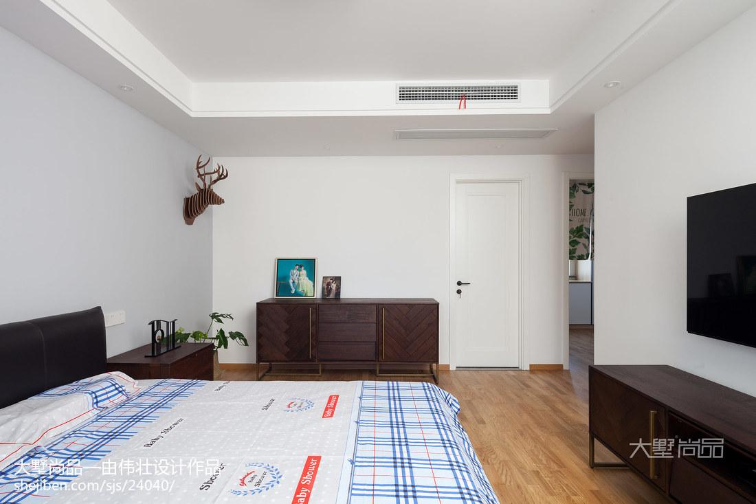 96平米三居卧室北欧装修欣赏图
