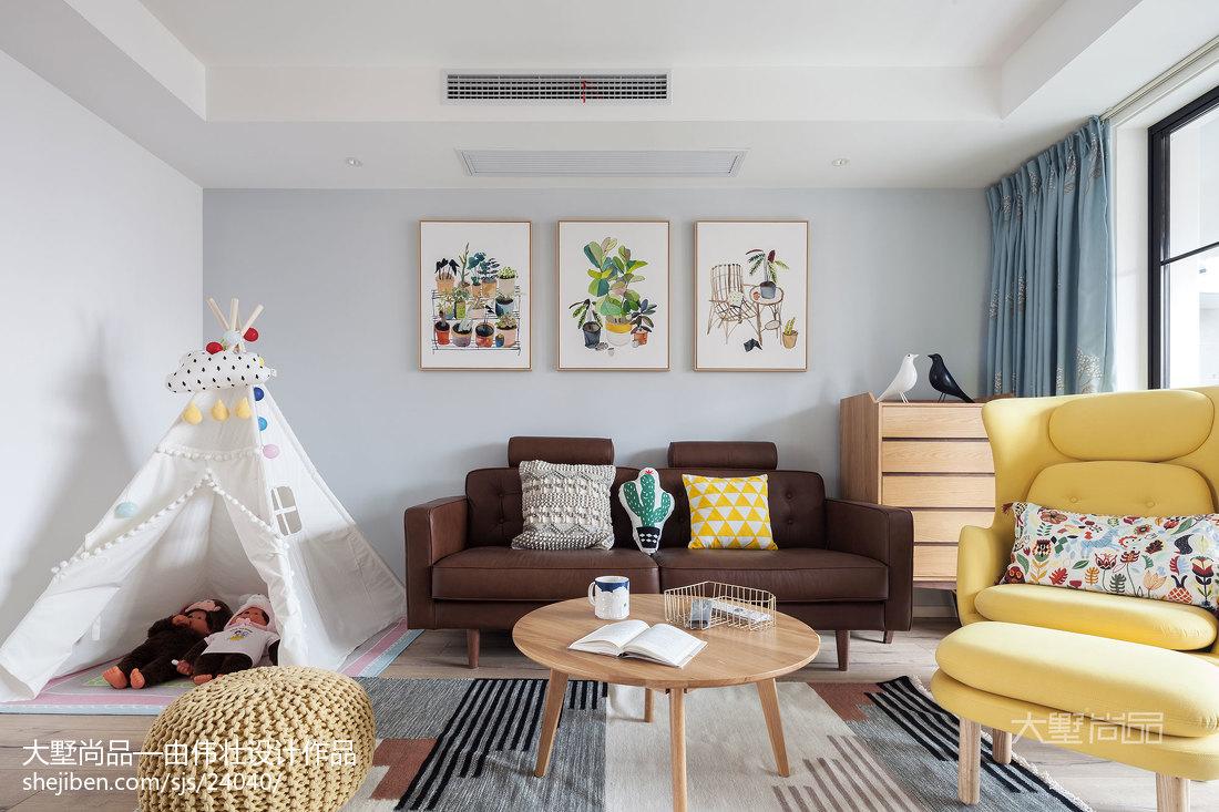 精美大小109平北欧三居客厅设计效果图