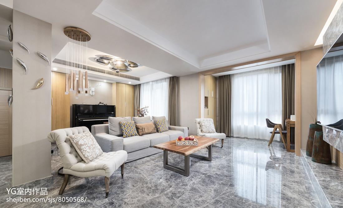 面积117平别墅客厅简约装修欣赏图