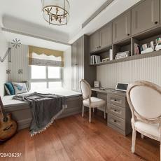 精选面积94平美式三居书房装修效果图片