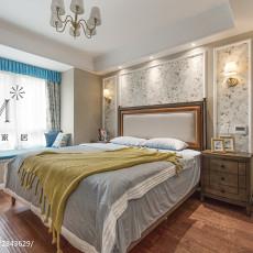 温馨125平美式三居卧室装饰图片