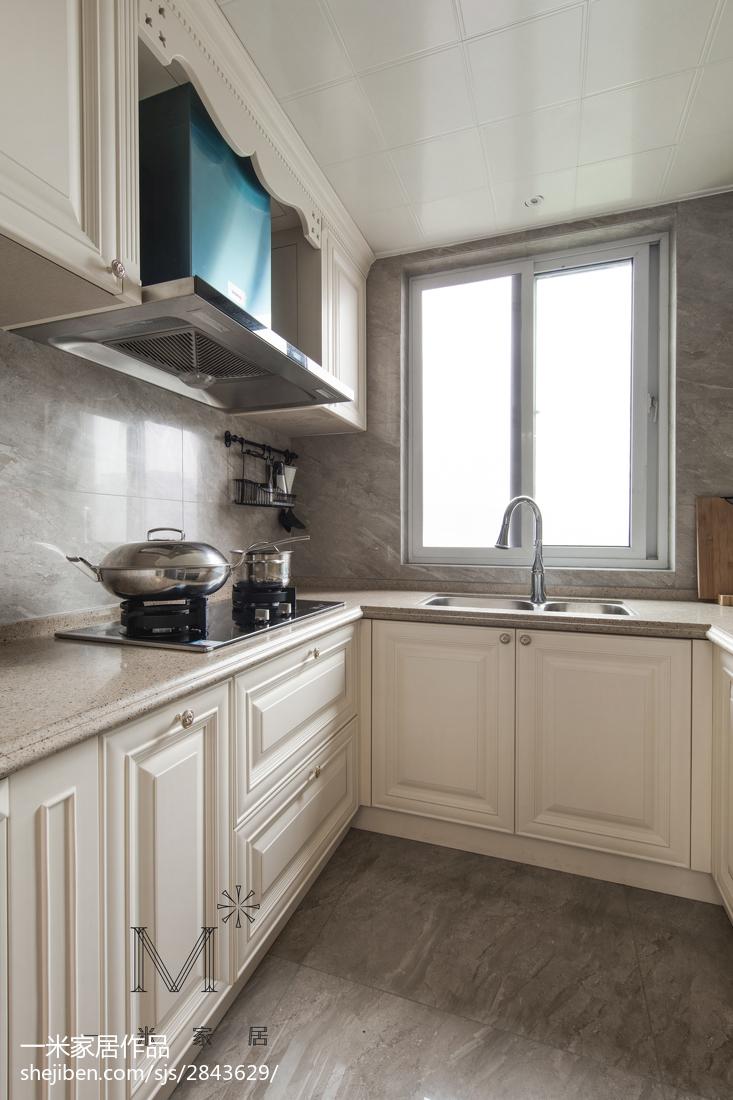 精美105平米三居厨房美式装饰图