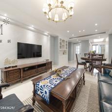 2018精选109平米三居客厅美式装修欣赏图片大全