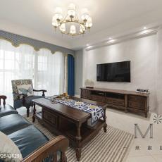 2018104平方三居客厅美式实景图片大全