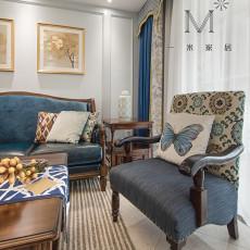 精美面积108平美式三居客厅欣赏图片