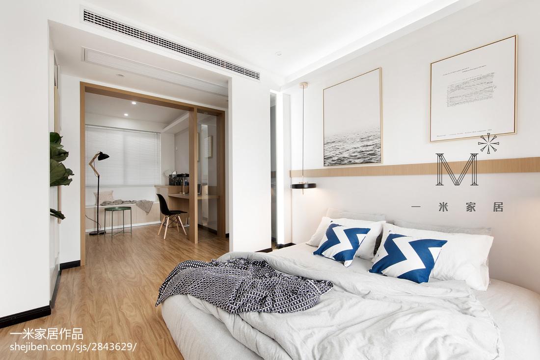 2018精选面积94平现代三居卧室装修欣赏图