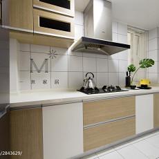 精美面积108平现代三居厨房装修实景图片欣赏