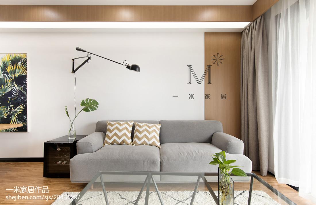 热门108平方三居客厅现代装修欣赏图片