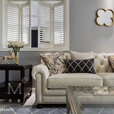 109平米三居客厅美式装修效果图片大全