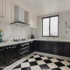 2018精选面积108平美式三居厨房装修设计效果图片欣赏