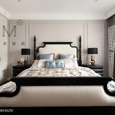 精美面积101平美式三居卧室欣赏图片大全