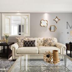 热门面积98平美式三居客厅装修效果图