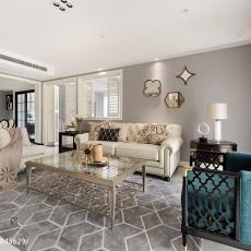 精选94平米三居客厅美式装修实景图片欣赏