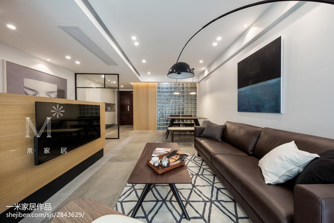 热门109平米三居客厅北欧效果图