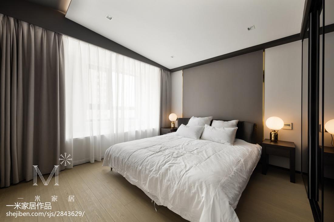 2018大小92平现代三居卧室装修实景图