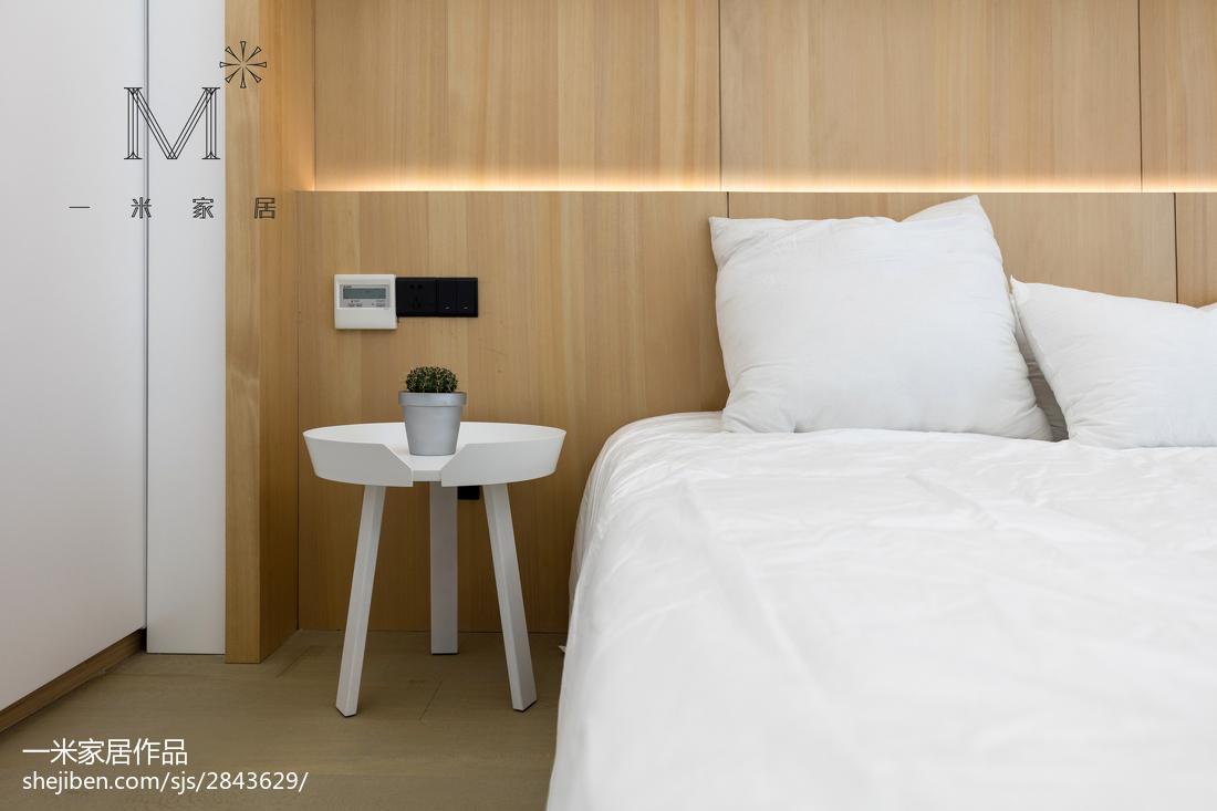 2018精选104平米三居卧室现代装修效果图片
