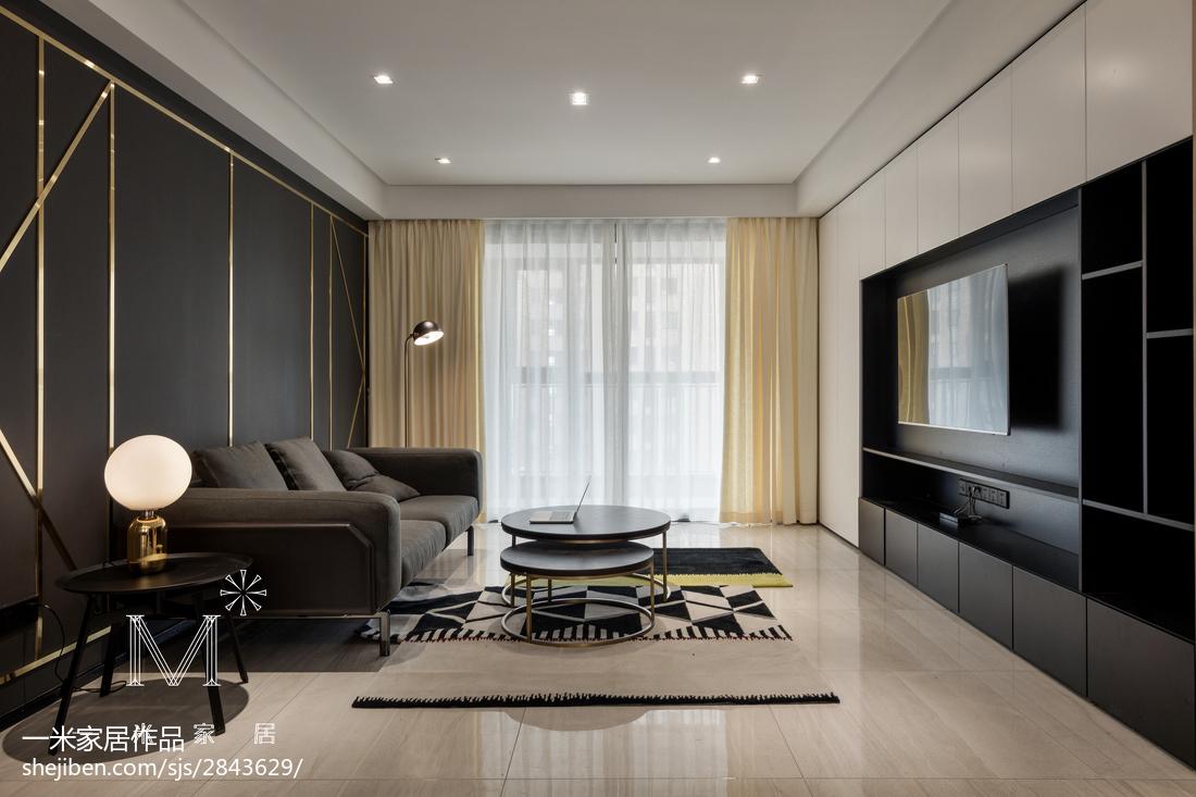 热门94平米三居客厅现代装修欣赏图