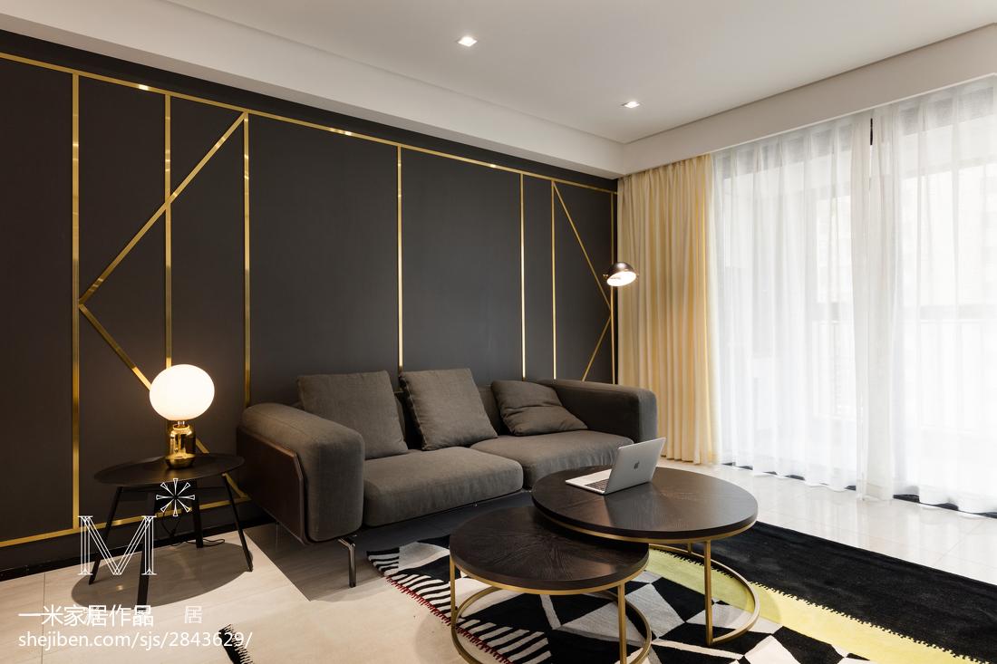 热门93平大小客厅三居现代装修欣赏图片